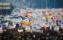 Demonstration auf dem Alexanderplatz am 4. November 1989. Quelle: [M] Archiv Bundesstiftung Aufarbeitung, Bestand Klaus Mehner, 89_1104_POL-Demo_35