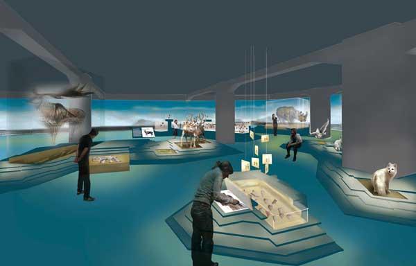 Lichtstimmungen machen den Wechsel von Kalt- und Warmzeiten für den Museumsbesucher spürbar./Agentur: ATELIER BRÜCKNER